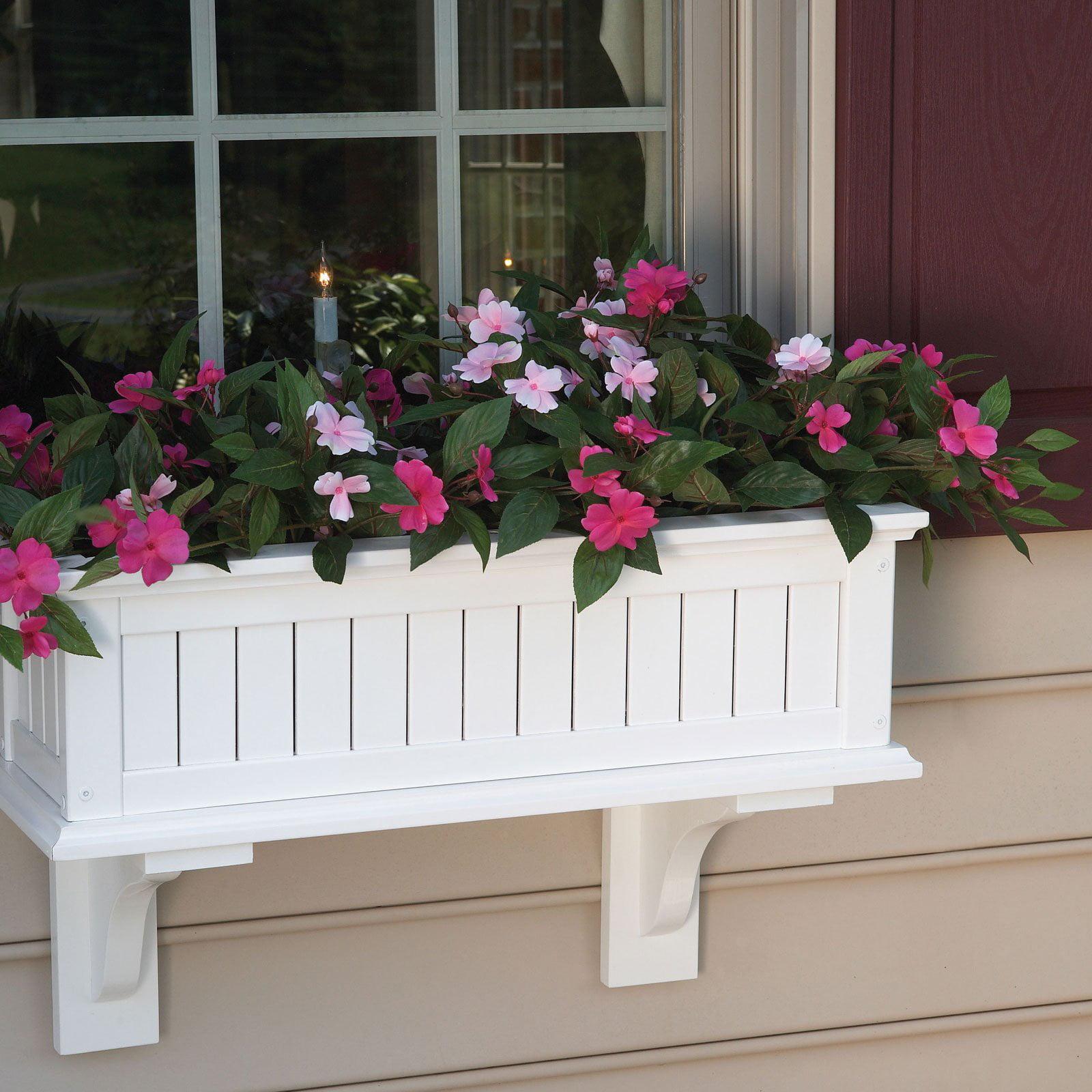 Rectangle Wood Nantucket Standard Window Box