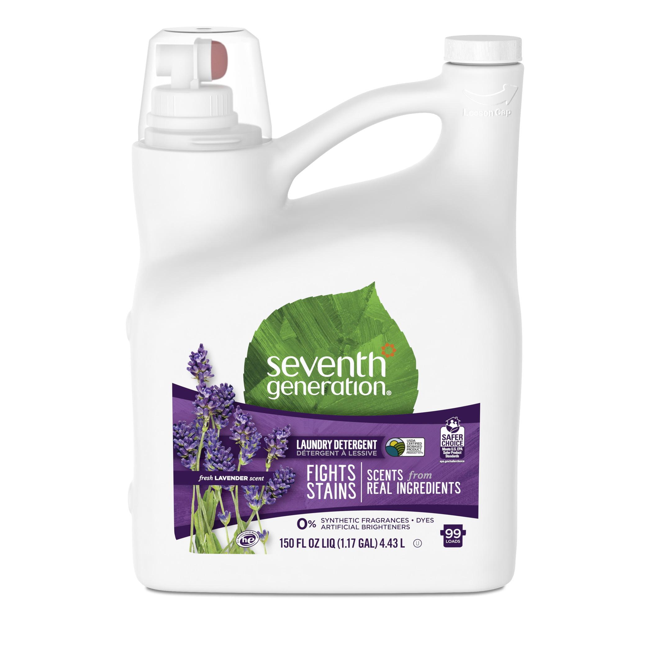 Seventh Generation Liquid Laundry Detergent, Fresh Lavender, 99 Loads, 150 oz