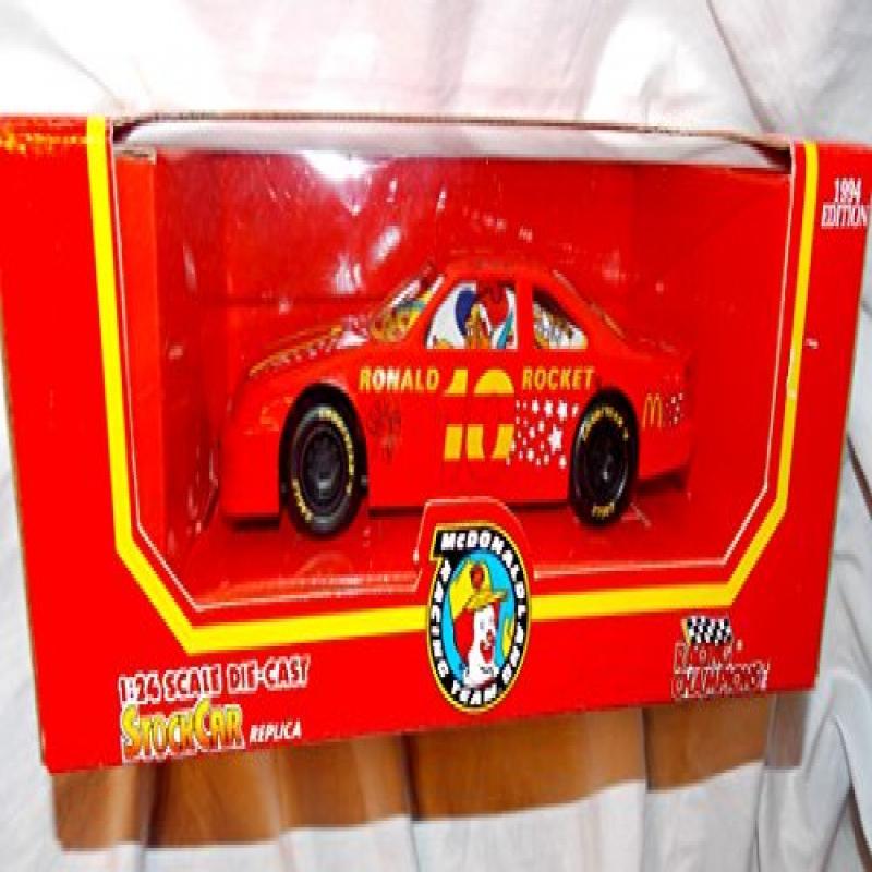 1994 McDonaldland Racing Team Ronald Rocket 1:24 Scale Die Cast Stock Car by