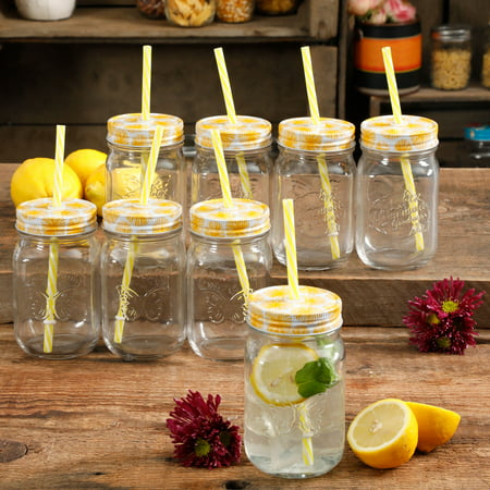 The Pioneer Woman Fall Sale 16oz Clear Mason Jars, Set of 8
