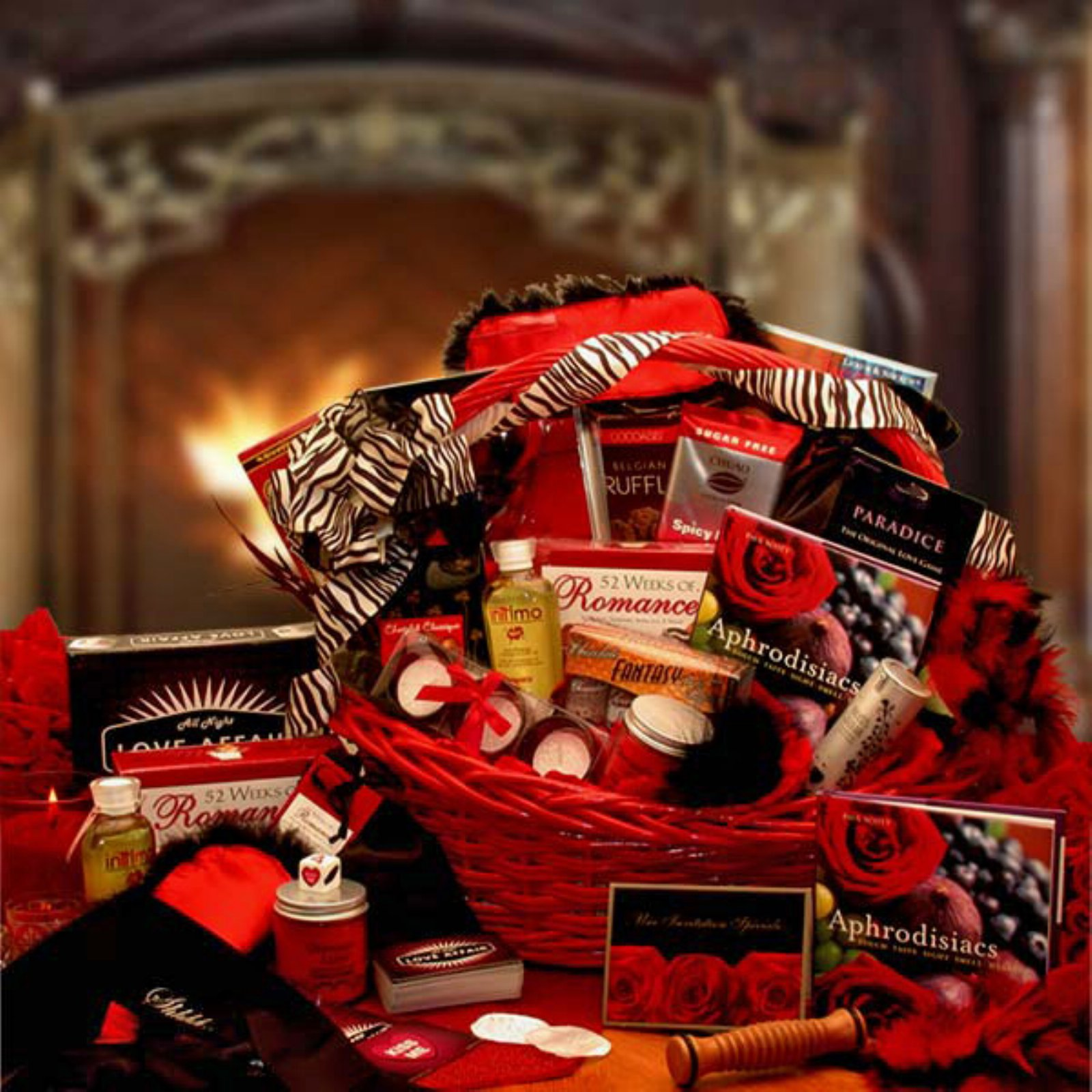 Couples Romantic Nights Gift Basket