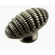 Strategic Brands 10511 1.87 in. Satin Antique Nickel Textures Honeycomb Knob