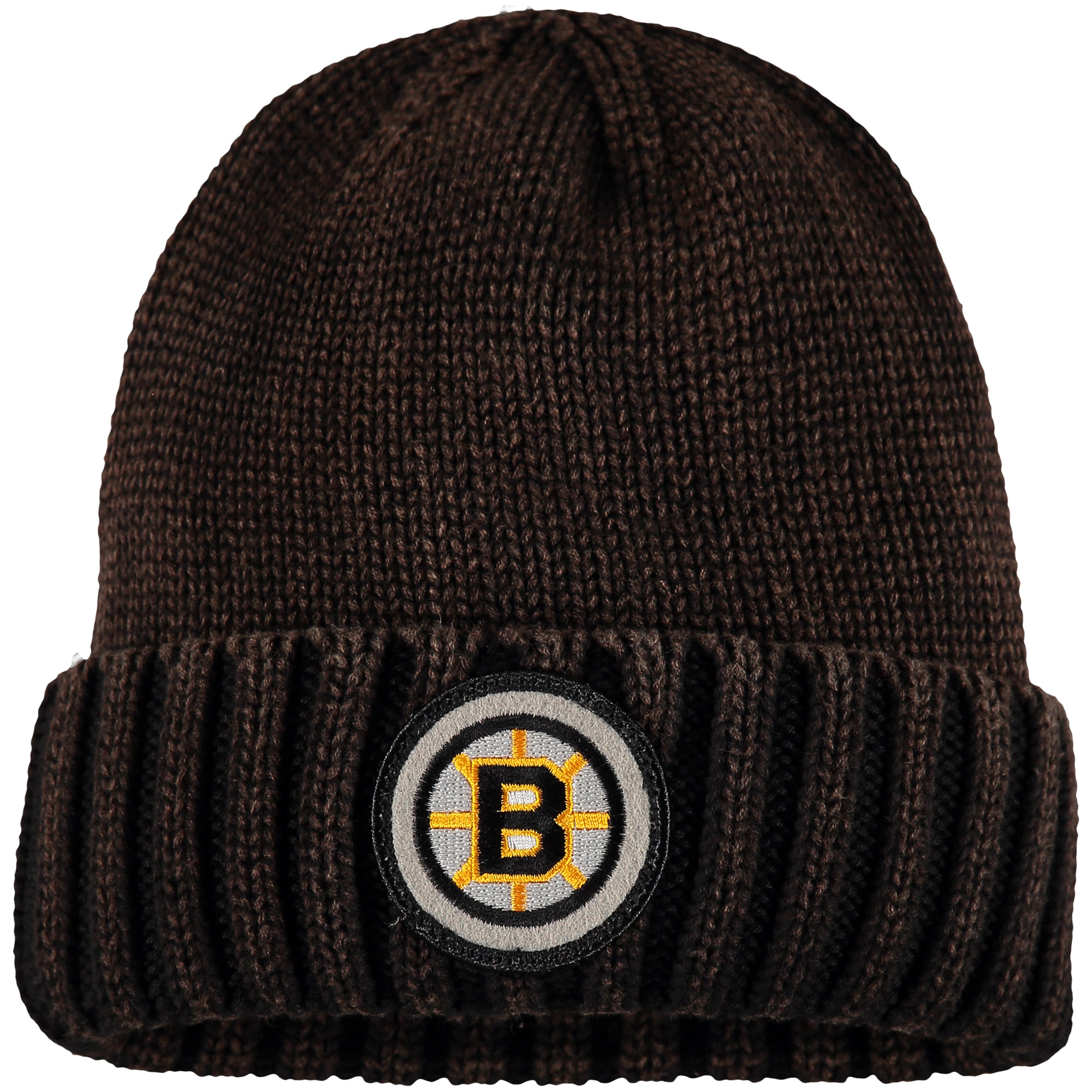Boston Bruins Mitchell & Ness Vintage Ribbed Cuffed Knit Hat - Brown - OSFA