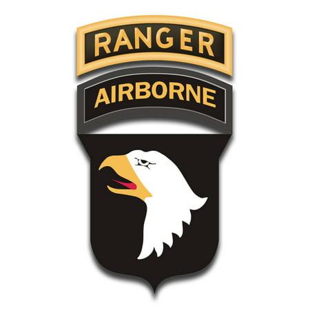 3.8 Inch 101st Airborne Ranger Tabs Sticker Decal