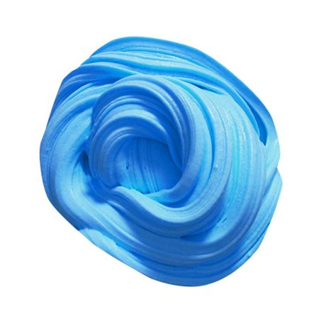 100ML DIY Soft Fluffy Floam Slime Scented Stress Relief No Borax Sludge Cotton Mud Release Clay Toy Plasticine for Kids and Adults Blue