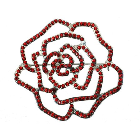 Stunning Red Crystal Rose For Valentine'S Day Wedding Party Prom Pageant  E102