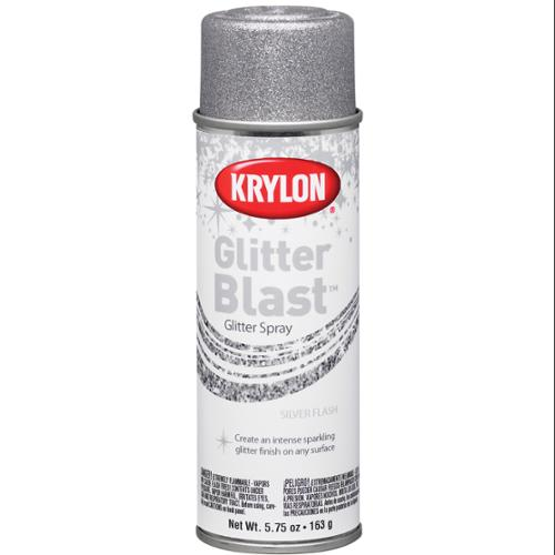 Glitter Blast Aerosol Paint 5.75 Ounces-Silver Flash