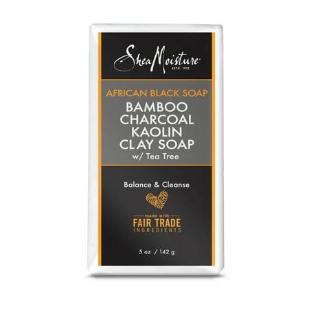 Shea Moisture African Black Soap BMBO+CHAR KLN Clay 5 (Pangea Organics Organic Soap)