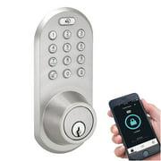 MiLocks BLEF-02SN Bluetooth/Keypad Deadbolt, Satin Nickel