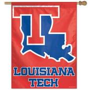 Louisiana La Tech Vertical Outdoor House Flag