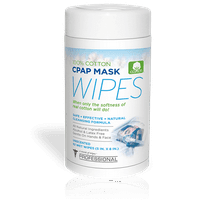 AWOW Professional CPAP Mask Wipes, Unscented Cotton Cleaning Wipes for Everyday CPAP Mask Maintenance, 62 Ct Canister