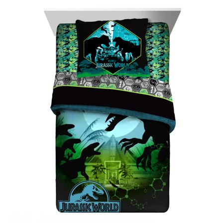 Universal Jurassic World Blue/Green Twin/Full Reversible Comforter and Sham - Out Of This World Comforter
