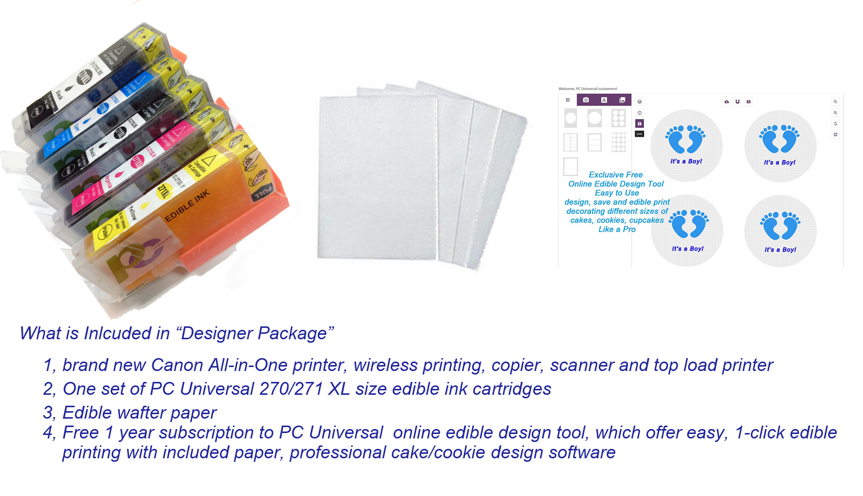 photograph relating to Edible Printable Paper for Cakes named Edible Printer Deal- Manufacturer Contemporary Canon All-within-Just one Printer with Edible Paper and Inks via Computer Common