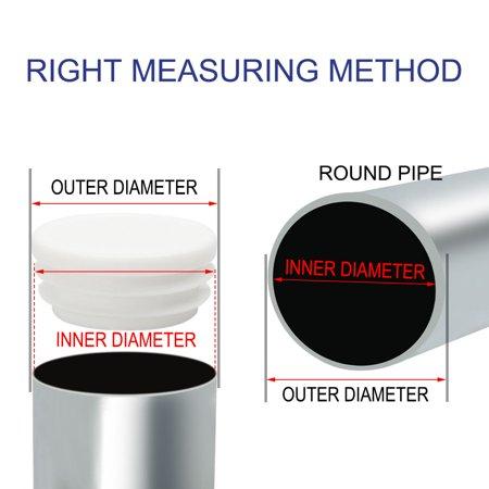 "1 1/2"" 38mm OD Round Tube Insert Protector 32pcs, 1.38""-1.46"" Inner Dia - image 2 de 7"