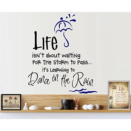 Life isn't about waiting for the storm to pass, it's learning to dance in the Rain ~ Wall or Window Decal (13