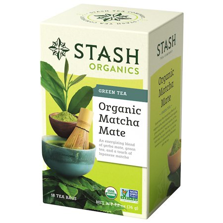 - Stash Tea Organic Matcha Mate Tea, 18 Ct, 1.2 Oz