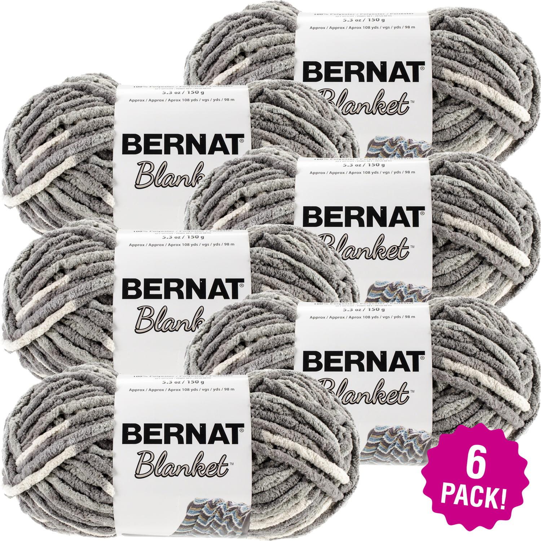 Bernat Blanket Yarn - Silver Steel, Multipack of 6
