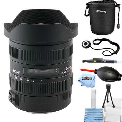 Sigma 12-24mm f/4.5-5.6 DG HSM II Lens (For Nikon) STARTER BUNDLE