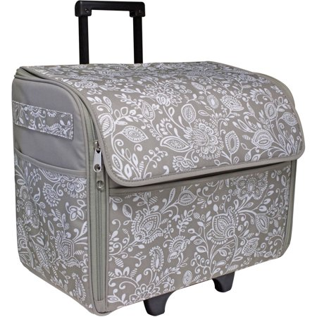 Everything Mary Dome Rolling Sewing Machine Case GreyWhite Cool Sewing Machine Case
