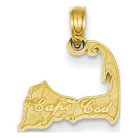14k Yellow Gold Cape Cod (14.5x17mm) Pendant /