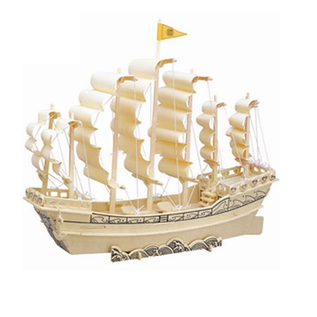 Ming Dynasty Antiques - Collectors Ancient Style Sailboat in Ming Dynasty Wooden 3D Puzzle Toy
