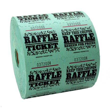 Green Raffle Tickets](The Garage Halloween Tickets)