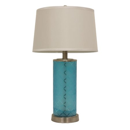 Latitude Run Dina Quadrafoil Etched Glass 28 5 Table Lamp