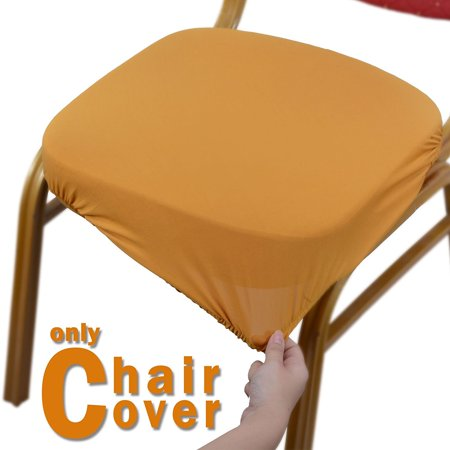 Voilamart Dinning Chair Slipcovers Seat Covers Office Protectors Soft Stretchable Fabric 4 Pcs