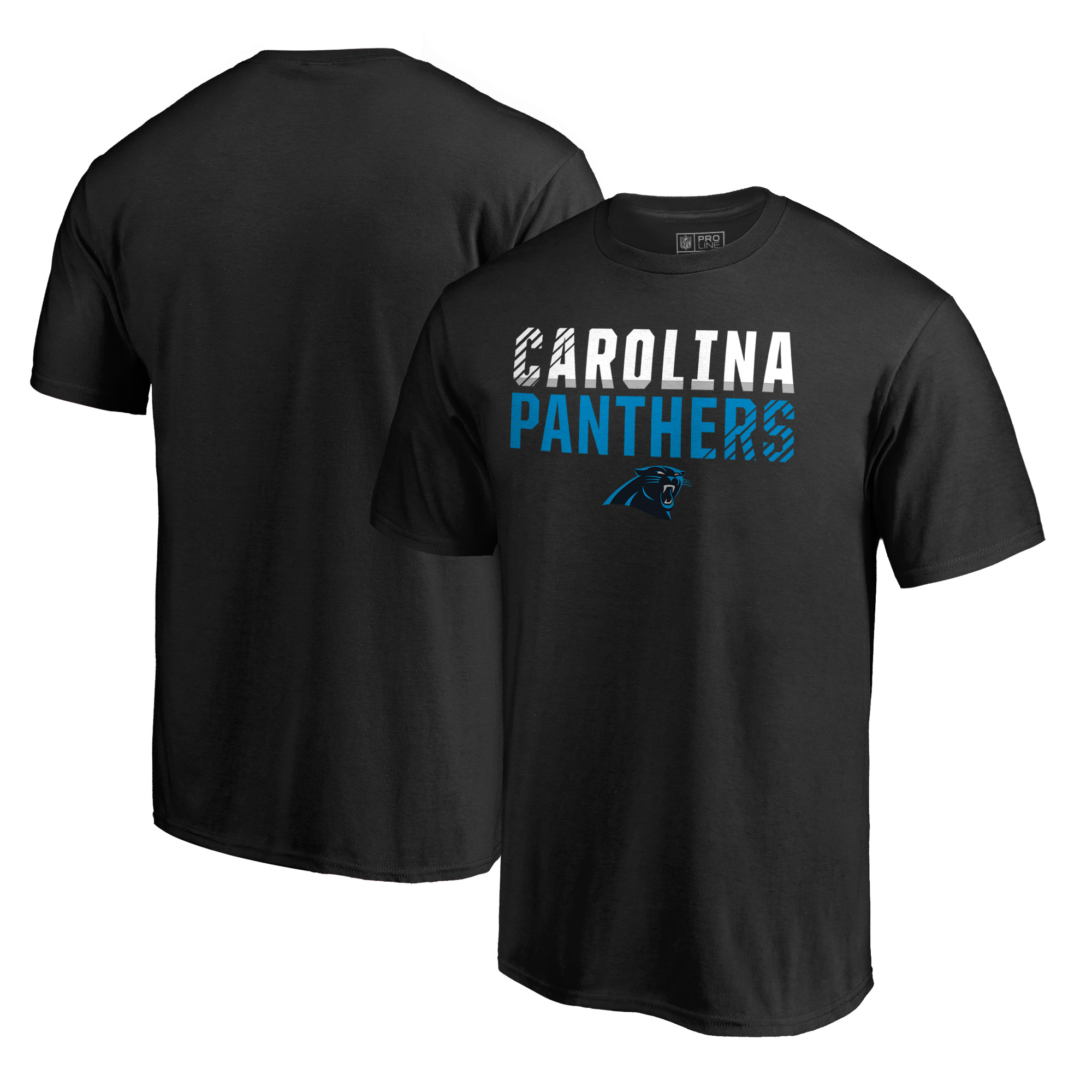 Carolina Panthers NFL Pro Line by Fanatics Branded Iconic Collection Fade Out T-Shirt - Black