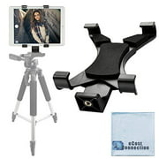 acuvar tablet tripod mount (universal) for apple ipad, ipad air, ipad mini, most other tablets & large phones + an ecostconnection microfiber cloth