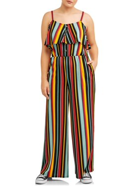 7590d819336 Product Image Juniors  Plus Printed Crepe Jumpsuit