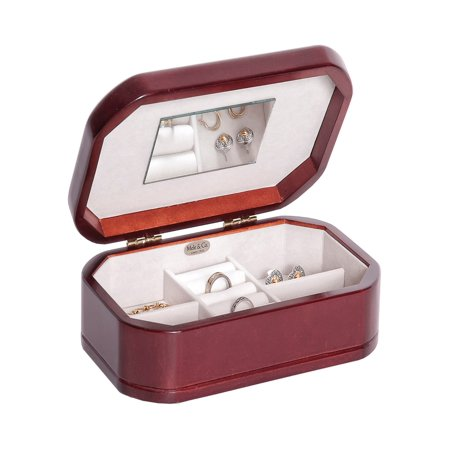 Morgan Wooden Jewelry Box, Cherry Finish (Wooden Jewelry Boxes)