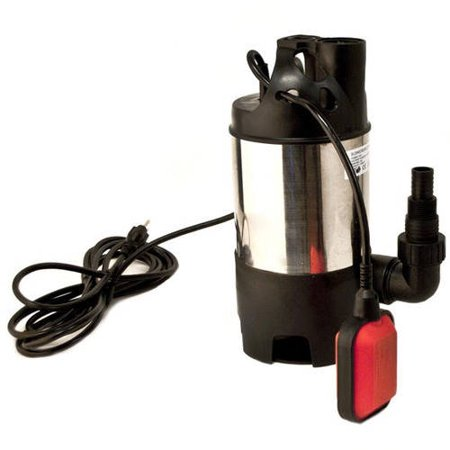 Aleko Ap202 3 Submersible Dirty Clean Water Pump 1 Hp 3560 Gallons Per Hour With Float Switch Drain Pump  Stainless Steel Housing