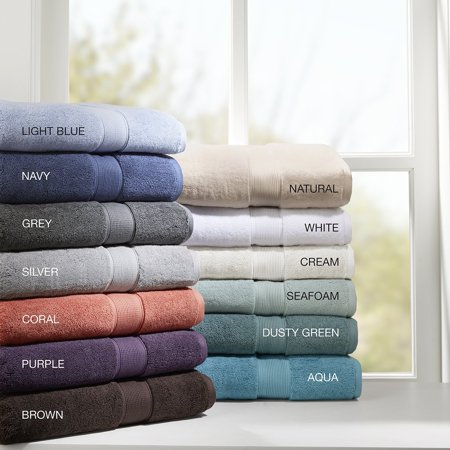- 800GSM 100% Cotton 8 Piece Towel Set Grey See below, Update your bath linen and give the bathroom a fresh look with Madison Park Signature 800GSM Cotton.., By Madison Park