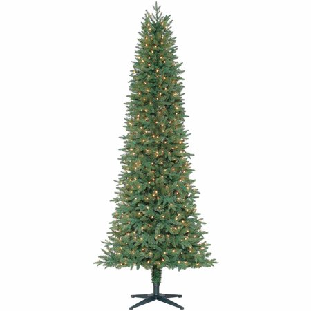 Departments - Holiday Time Pre-Lit 7.5' Sanford Pencil Christmas Tree, Green