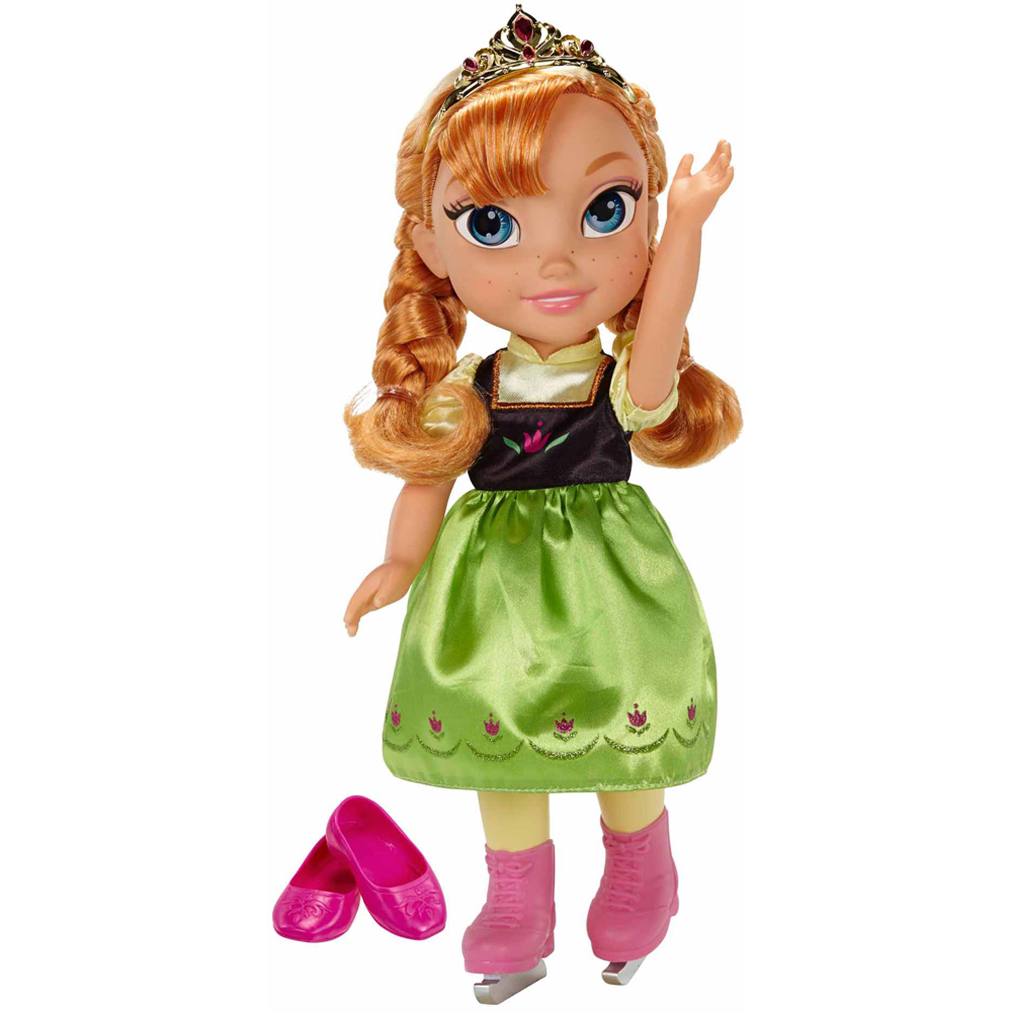 Disney Princess Deluxe Toddler Anna with Ice Skating Fashions and Skates by Jakks Pacific