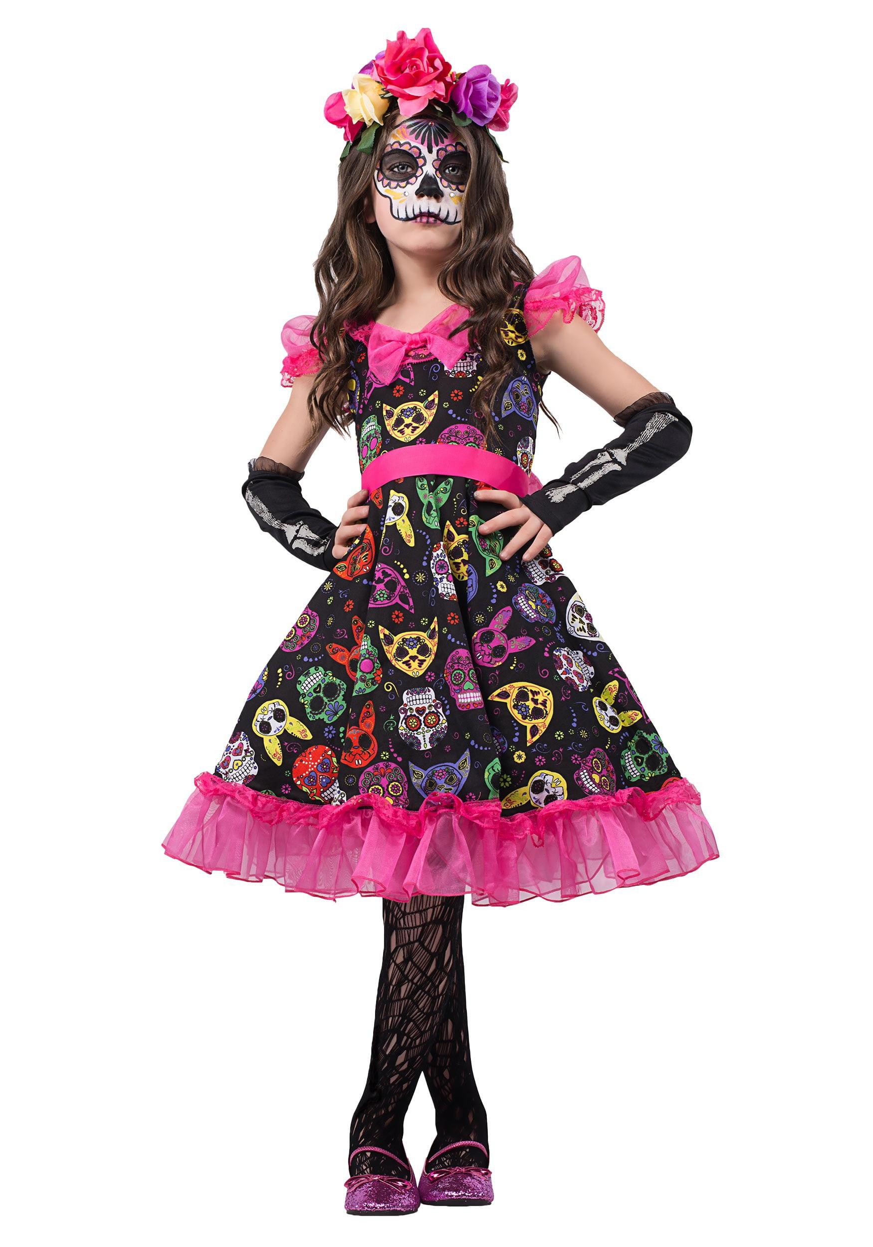 girls sugar skull sweetie costume walmart com