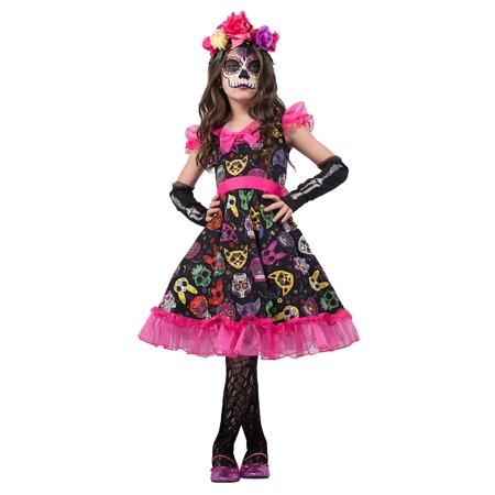 girls sugar skull sweetie costume walmartcom