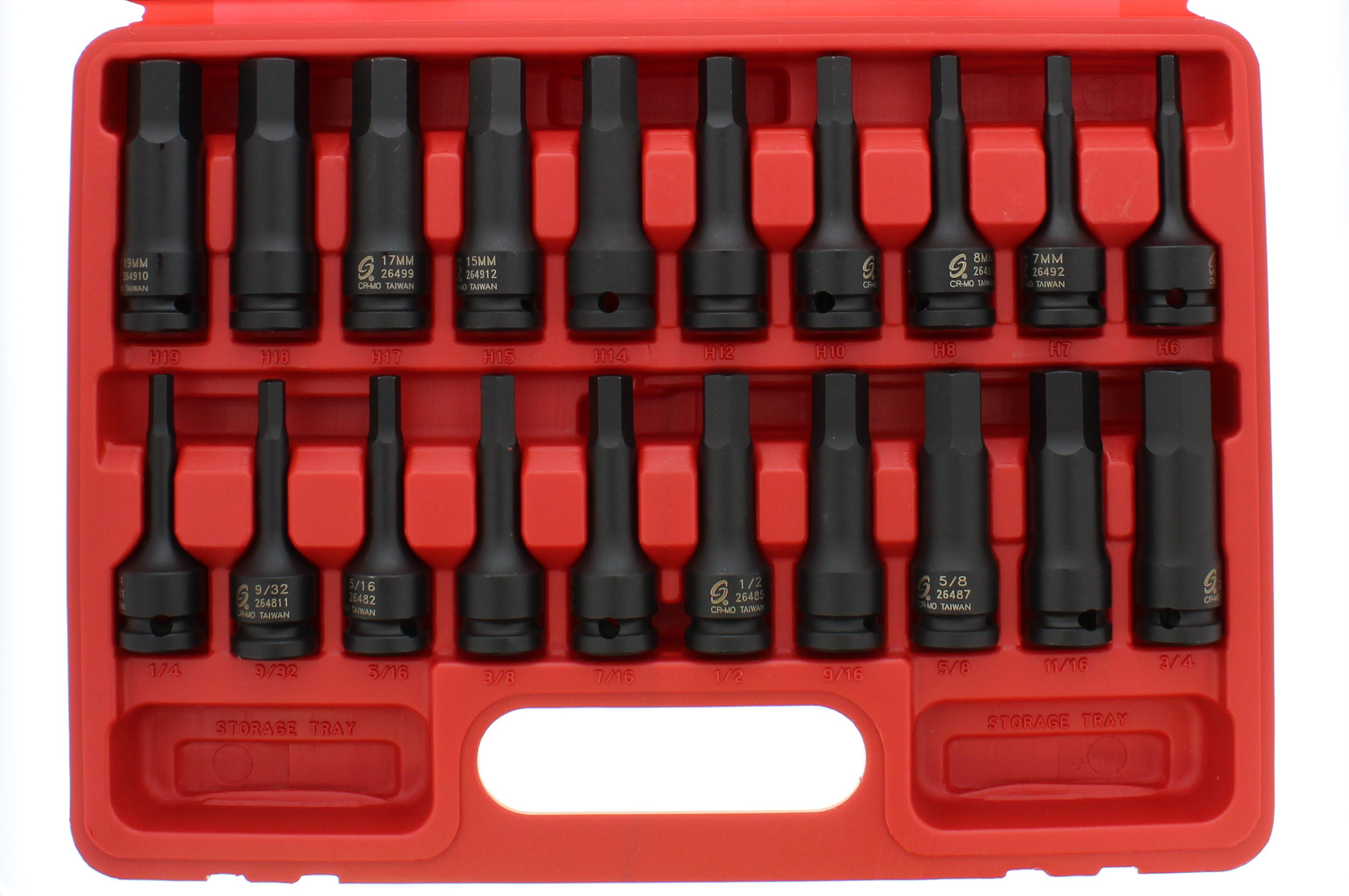 Sunex 26489 1//2 Drive 3//4 Hex Impact Socket