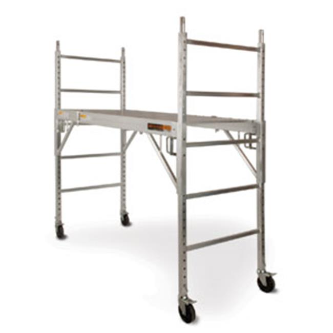 METALTECH Scaffold,6-5/32 ft.L,Aluminum,700 lb. I-CAISC