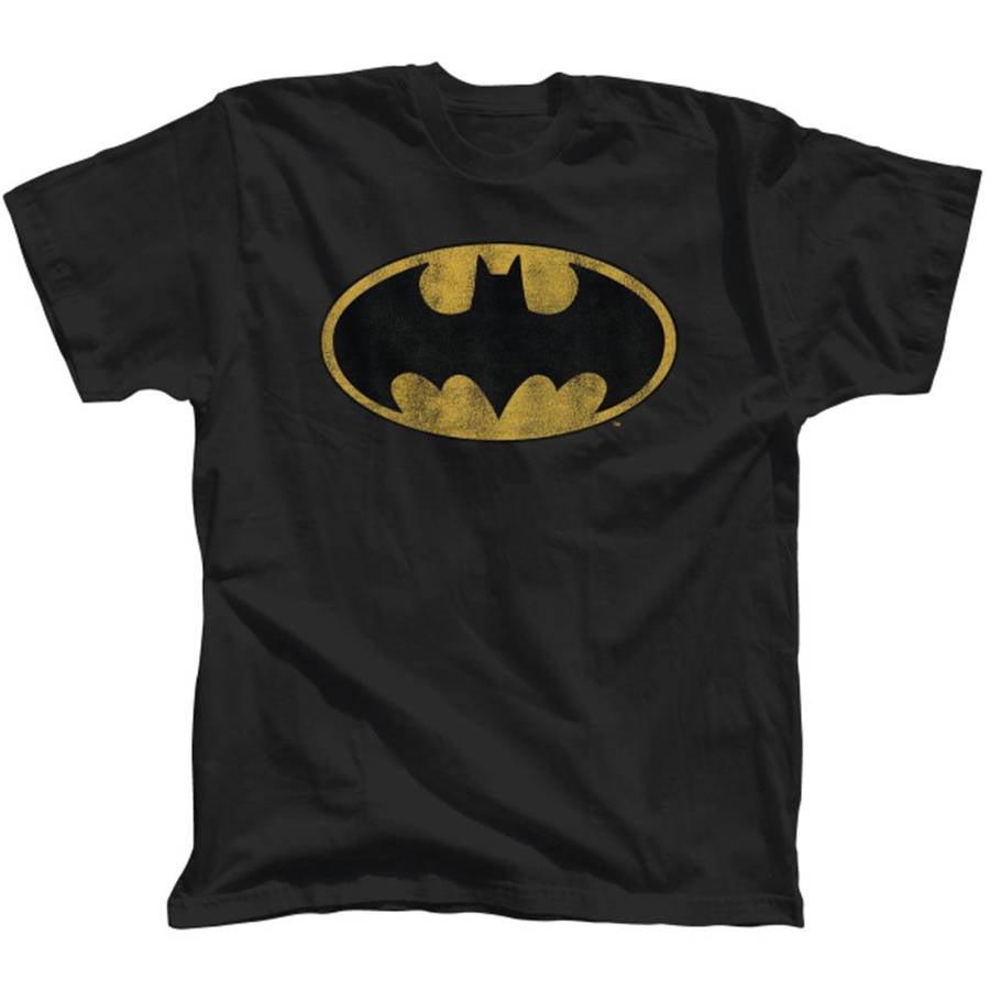 Batman Distressed Logo Men's Tee Shirt