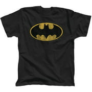Batman distressed logo Men's tee shirt