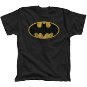 Batman Distressed Logo Men's Tee Shirt by Bioworld Merchandising
