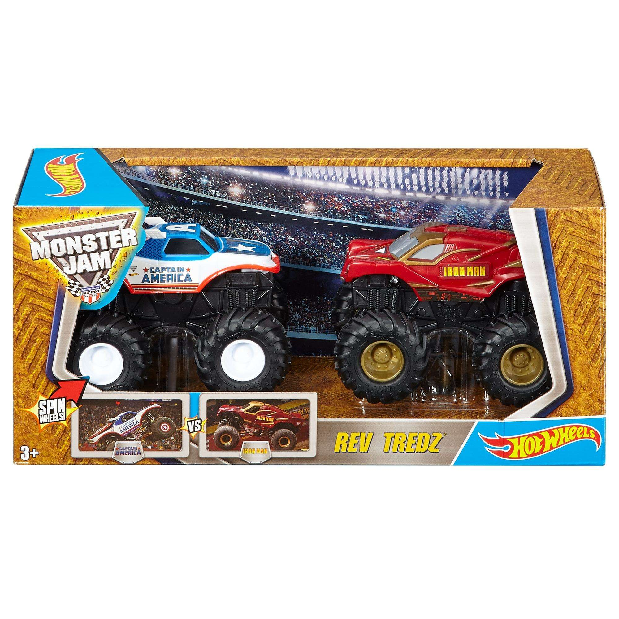 Hot Wheels Monster Jam Rev Tredz 2-Pack (Styles May Vary)