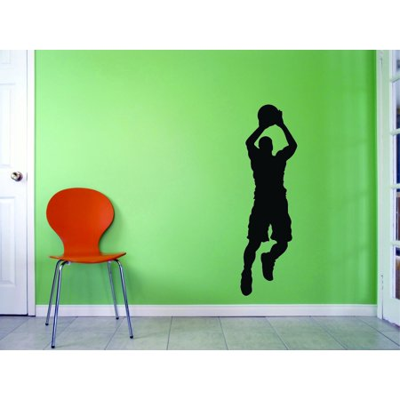 Custom Peel - Custom Wall Decal - Peel & Stick Sticker : Basketball Player Sports Home Decor Picture Art 10x20 Inches