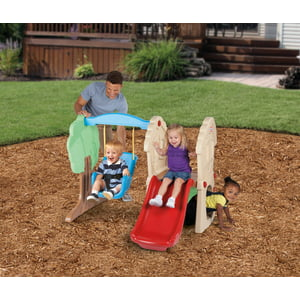 Little Tikes Hide & Seek Climber and Swing - Brown|Tan