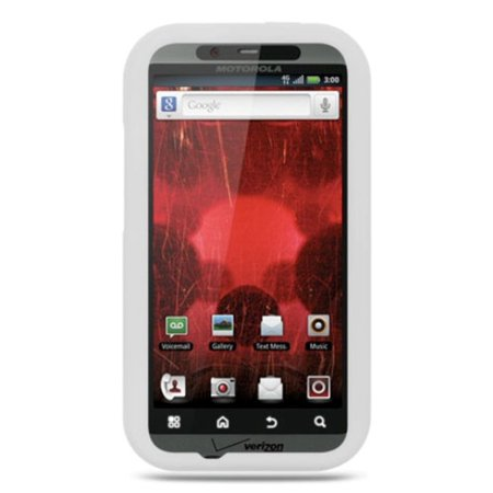 Motorola Droid Bionic XT875 Case, by Insten Rubber Silicone Soft Skin Gel Case Cover For Motorola Droid Bionic XT875 Targa (Droid Bionic Battery Cover)