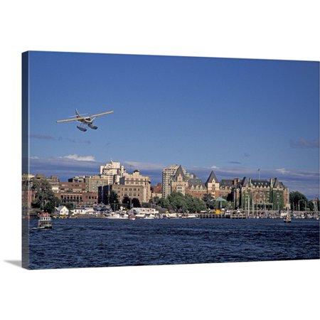 Great Big Canvas Brent Bergherm Premium Thick Wrap Canvas Entitled Canada  British Columbia  Victoria Harbor  Harbor Air Float Plane