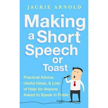 Making a Short Speech or Toast - eBook