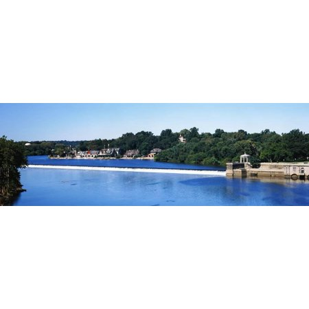 Philadelphia Boathouse Row (Boat House Row and Fairmount Water Works, Philadelphia, Pennsylvania, USA Print Wall)